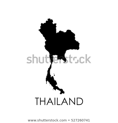 thailand country on map stock photo © alex_grichenko