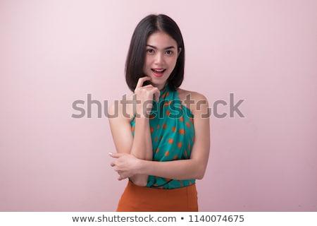красочный · портрет · красивой · Lady · лице - Сток-фото © elnur