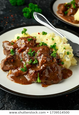 Stock photo: Liver and onions