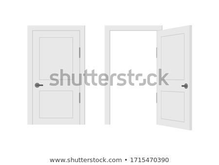 Sluiten oude deur behandelen Stockfoto © hraska