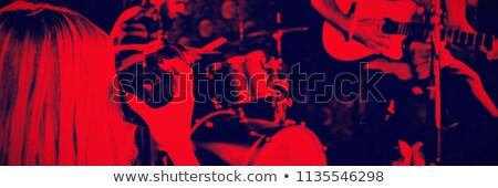 Photographing Woman Singer Stock photo © MilanMarkovic78