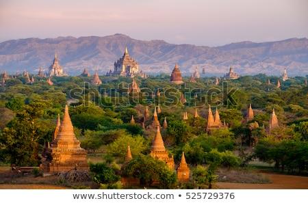 pagode · pôr · do · sol · Mianmar · edifício · noite · nascer · do · sol - foto stock © mikko