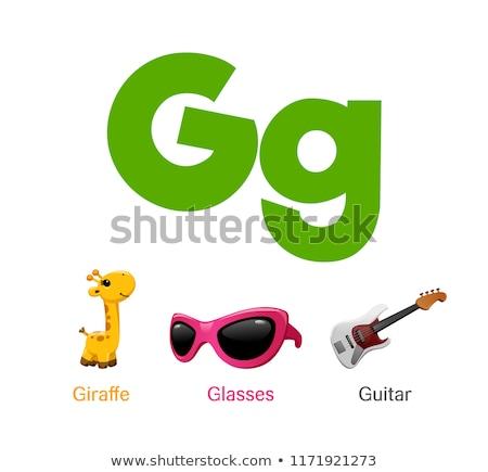G betű szemüveg illusztráció háttér oktatás kártya Stock fotó © bluering