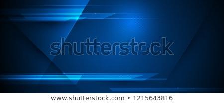 Absztrakt kék bokeh hatás nap terv Stock fotó © zven0