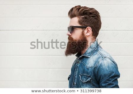 Férfi szakáll utca Stock fotó © zurijeta