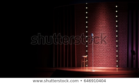 Stand up comédie cartoon heureux fond Photo stock © vector1st