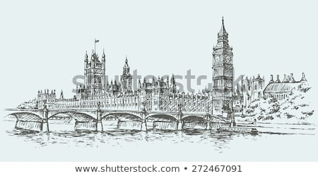 London · Big · Ben · palota · Westminster · klasszikus · retró · stílus - stock fotó © photocreo