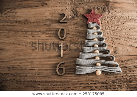 Inscription of New Year 2016 with decoration Stock photo © jossdiim