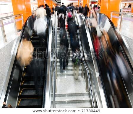 Metrô estação movimento turva cor imagem Foto stock © lightpoet