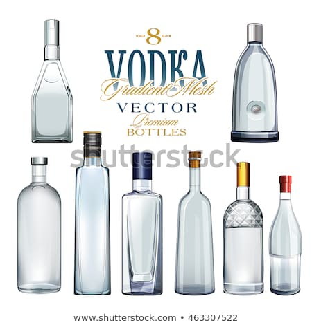 Various Types Of Vodka Bottles. Vector Illustration Stock photo © ConceptCafe