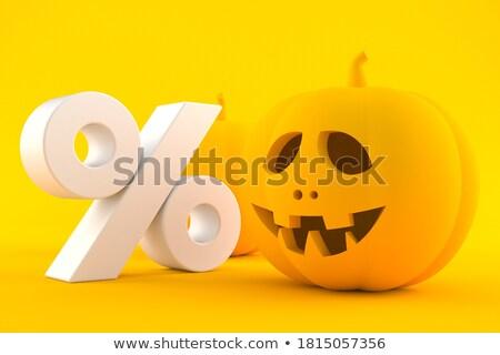 halloween · fener · cadılar · bayramı · kabak · puslu - stok fotoğraf © lightsource