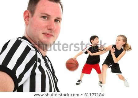 kind · spelen · basketbal · cartoon · illustratie · kinderen - stockfoto © bluering