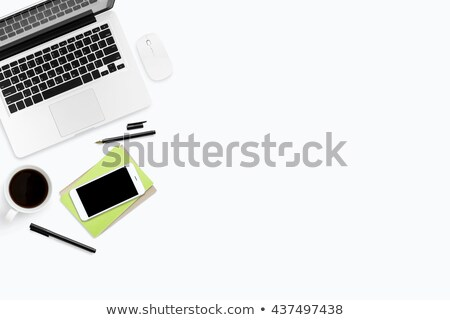 styled tabletop hipsters workspace white computer keyboard an stock photo © manera