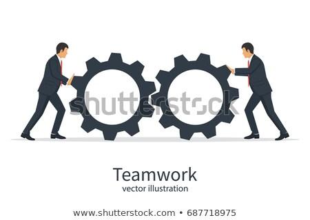 Two cogwheels Stock photo © bluering