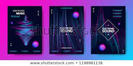 Techno Musik Flyer Plakat Vorlage Party Stock foto © SArts