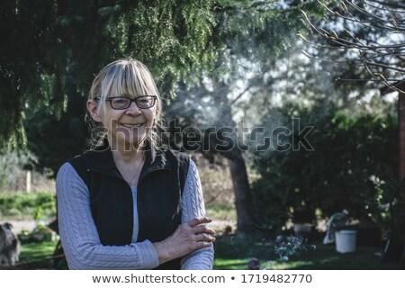 smoker blonde Stock photo © ssuaphoto