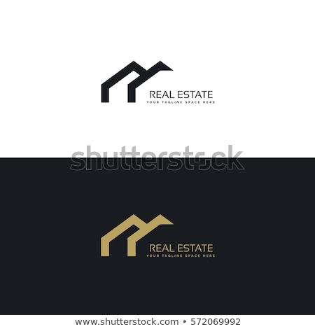Imóveis design de logotipo mínimo estilo edifício cidade Foto stock © SArts
