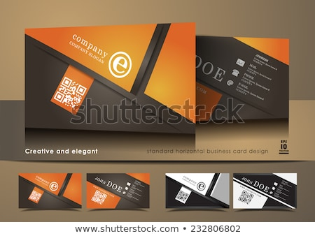 business card vector design with diagonal stripes Stock photo © SArts