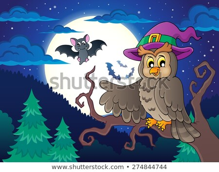 owl and bats on branches Stock photo © adrenalina