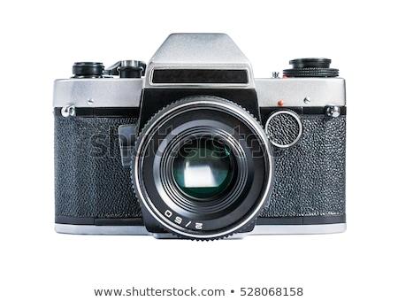 Stock fotó: Retro · kamera · kézzel · rajzolt · vázlatos · pánt · villanás