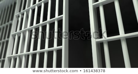 White Bar Jail Cell Perspective Locked Stock photo © albund