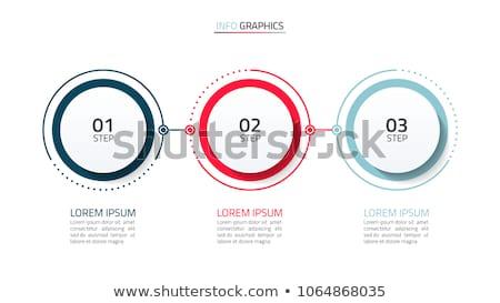 Trois étapes modernes coloré modèle Photo stock © SArts