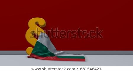 Bulgaristan · bayraklar · boyalı · kırık · beton - stok fotoğraf © drizzd