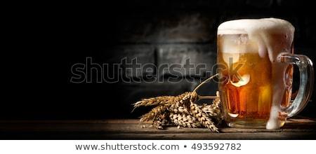 Stok fotoğraf: Bira · kereste · tablo · kupa · turuncu · doku