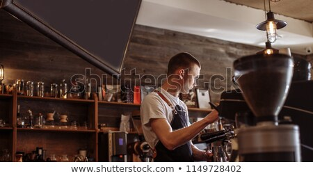 People working in food business and different kinds of food Stock photo © bluering