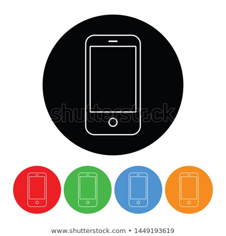 Cell Phones Flat Raster Icon Stock photo © ahasoft