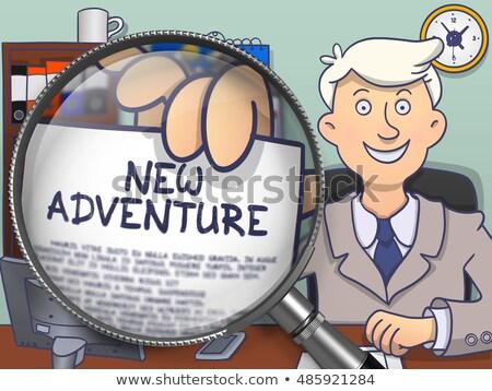 новых Adventure объектив болван человека служба Сток-фото © tashatuvango