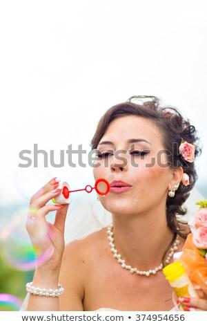 Jungvermählt Paar Park stehen Frau Stock foto © wavebreak_media