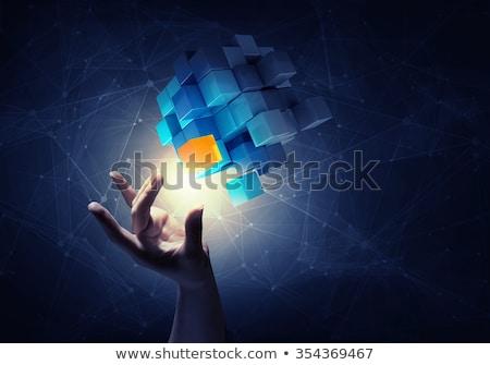 Nuevos 3D inteligencia artificial ideas forma Foto stock © Olena