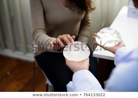 Borst implantaat illustratie gezondheid tieten vrouwelijke Stockfoto © adrenalina