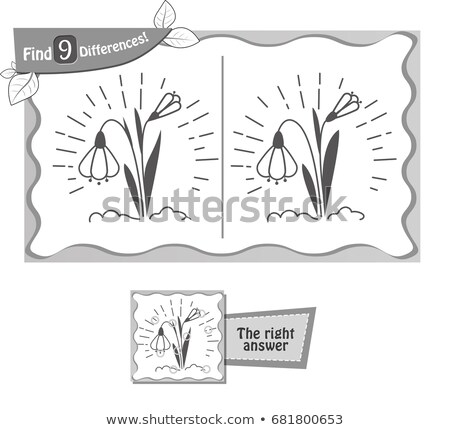 find 9 differences game snowdrop Stock photo © Olena