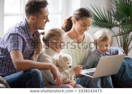 Multi ethnic family travelers, mom dad and kids Stock photo © rogistok