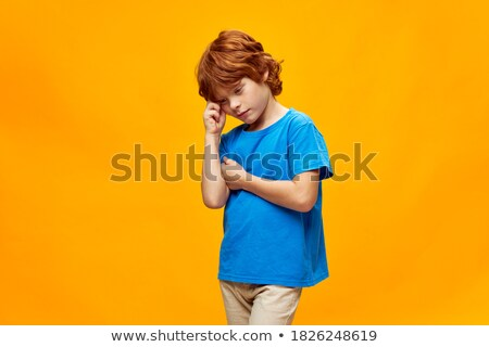 Yellow clouds with facial expressions Stock photo © bluering
