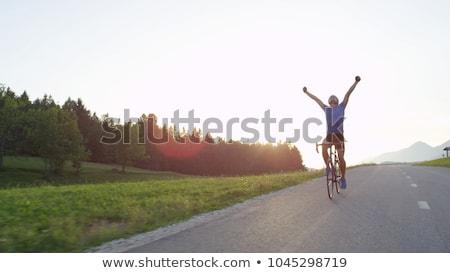 Célébrer triomphe excité ciel bleu Photo stock © LightFieldStudios