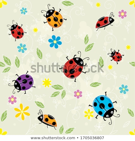 Ladybirds pattern Stock photo © psychoshadow