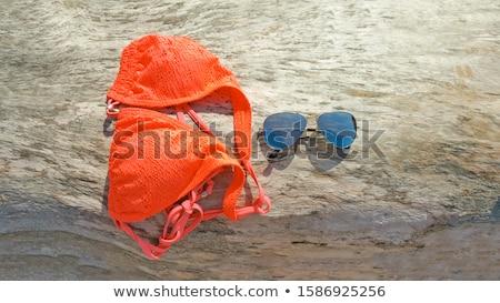Donna occhiali da sole spiaggia moda estate viaggio Foto d'archivio © IS2