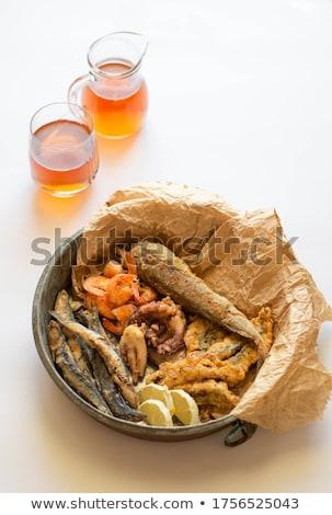 Plat faible frit poissons Italie août Photo stock © Photooiasson