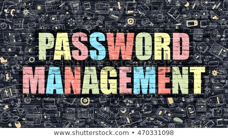 password management concept multicolor on dark brickwall stock photo © tashatuvango