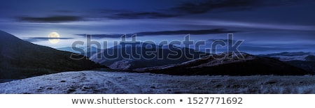 Silhouette of mountain range at night Stock photo © vapi