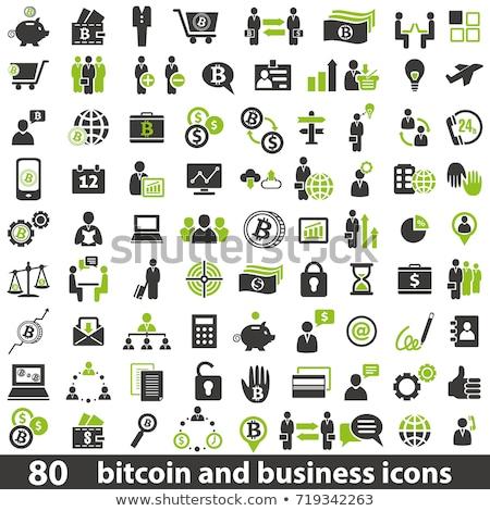 bitcoin · contabili · caso · icona · vettore · applicazione - foto d'archivio © wad