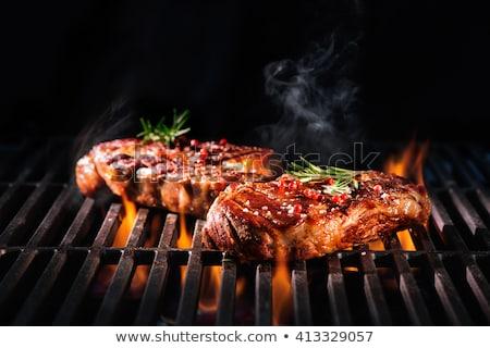Viande grillée alimentaire feu vert légumes cuisson Photo stock © phila54