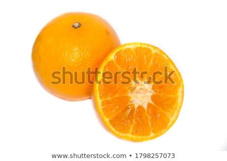 Pomarańczowy odizolowany biały owoców świeże Zdjęcia stock © M-studio
