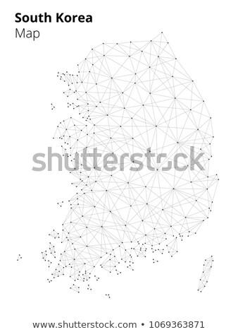 Coréia · do · Sul · mapa · político · país · vizinhos - foto stock © rastudio