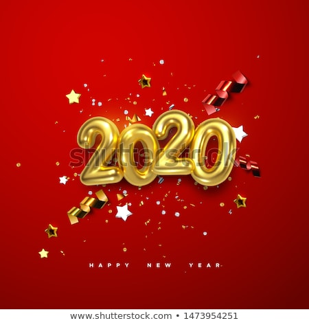 happy new year red pattern stock photo © foxysgraphic