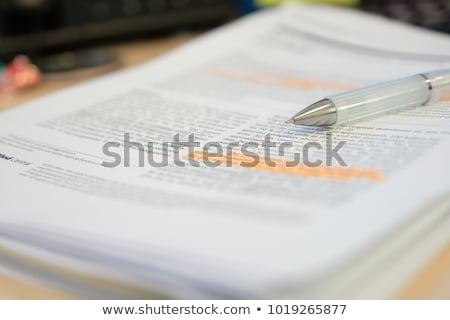 科学 紙 数学の 鉛筆 黒白 浅い ストックフォト © bryndin