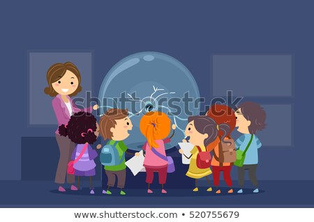 çocuklar fizik plazma top örnek grup Stok fotoğraf © lenm